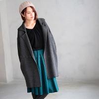 30代・40代に人気のレディースファッション通販。秋のコーディネート2016。【テーラードニットコート】