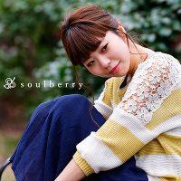 soulberry(ソウルベリー)2017春の着回しコーデ。30代・40代の大人可愛いナチュラル服。【肩レース7分袖ニットプルオーバー】