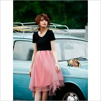 GRL(グレイル)2017春夏のコーディネート。10代・20代に人気の大人可愛いレディースファッション【宮田聡子 ソフトチュールスカート】