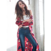 GRL(グレイル)2017春夏のコーディネート。10代・20代に人気の大人可愛いレディースファッション【ダレノガレ明美 花柄ガウンワンピース】