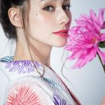 ダレノガレ明美パステルひまわり浴衣セット。プチプラで安可愛いファッションGRL(グレイル)2017春夏流行のトレンドアイテム