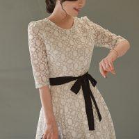 ラブリーレースワンピース。韓国の上品でエレガントな大人ファッション通販BADDIARY(バッドダイアリー)2017春夏の人気アイテム