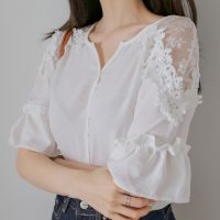 シュミレースブラウス。韓国の大人可愛いレディースファッション通販HANILOOK(ハニルック)2017春夏の人気アイテム
