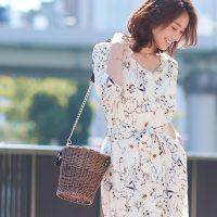 2way花柄シャツワンピース。プチプラカジュアルファッションPierrot(ピエロ)2017春夏流行のトレンドアイテム