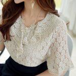ブロッサムレースブラウス。韓国のエレガントで上品なお嬢様ファッション通販Styleonme(スタイルオンミ)2017春夏の人気アイテム