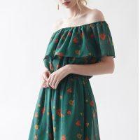 ヴィンテージフラワーオフショルダーワンピース。大人女子のプチプラキレイめファッションtitivate(ティティベイト)2017春夏流行のトレンドアイテム