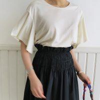 ベルスリーブ半袖Tシャツ。韓国の上品なナチュラルファッション通販LITTLEBLACK(リトルブラック)2017春夏の人気アイテム