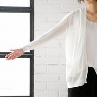 エアリーセミロングサマーカーディガン。大人の上品でキレイめファッションSTYLEDELI(スタイルデリ)2017春夏流行のトレンドアイテム