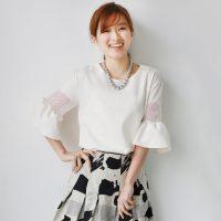 メッシュフレアスリーブブラウス。上品で可愛いファッションREAL CUBE(リアルキューブ)2017春夏流行のトレンドアイテム