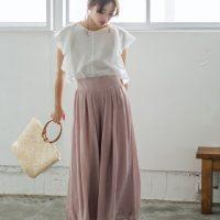楊柳フレアスカンツ。プチプラでおしゃれなファッションRe:EDIT(リエディ)2017春夏流行のトレンドアイテム