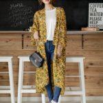 着物スリーブロングガウン。プチプラでおしゃれなファッションRe:EDIT(リエディ)2017春夏流行のトレンドアイテム