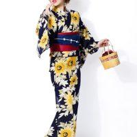 ひまわり浴衣Scawaii!6月号掲載3点セット。プチプラで安可愛いファッションGRL(グレイル)2017春夏流行のトレンドアイテム