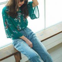 花柄フレアスリーブトップス。プチプラで安可愛いファッションGRL(グレイル)2017春夏流行のトレンドアイテム