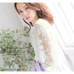 バルーン袖フラワーオーガンジーブラウス。安可愛いプチプラファッション神戸レタス2017春夏流行のトレンドアイテム