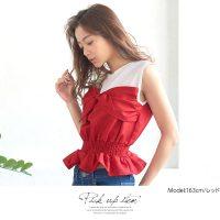 リボンビスチェトップス。安可愛いプチプラファッション神戸レタス2017春夏流行のトレンドアイテム