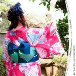 ゆかた作り帯2点Setレトロモダン系夏恋浴衣。安可愛いプチプラファッション神戸レタス2017春夏流行のトレンドアイテム