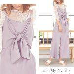 フロントリボンオールインワン。安可愛いプチプラファッション神戸レタス2017春夏流行のトレンドアイテム