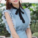 ロマンスリボンフリルワンピース。韓国のエレガントで上品なお嬢様ファッション通販Styleonme(スタイルオンミ)2017春夏の人気アイテム